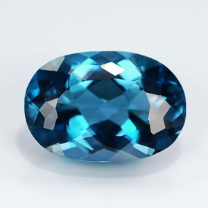 Natural Topaz London Blue 4.49 Ct