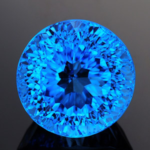 Natural millennium cut top swiss blue topaz