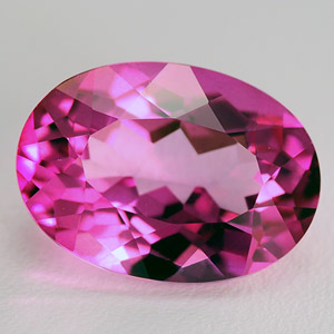 Natural Pink Titanium coated Topaz 7.18 Ct