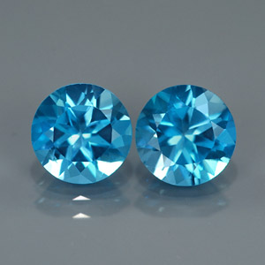 Natural Blue Topaz Pair 4.17 Ct