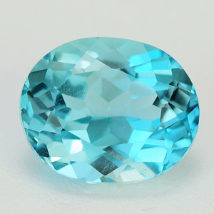 Natural aqua blue color topaz 5.21 Ct