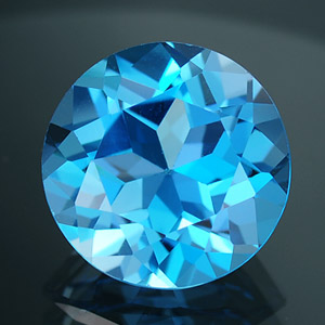 Natural Swiss blue Topaz 7.03 Ct