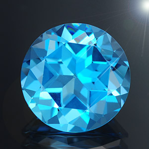Loose natural swiss blue topaz 7.11 Ct