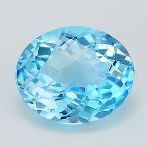 Natural swiss blue topaz 6.22 Ct