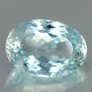 Huge natural light sky blue topaz oval shaped gemstone