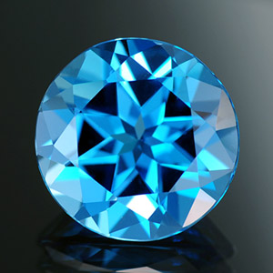 Loose natural round cut blue topaz