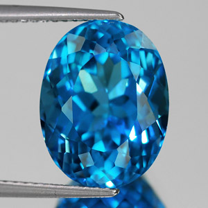 Loose Natural Swiss Blue Topaz 10.25 Ct