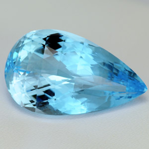 Natural sky blue topaz oval shaped