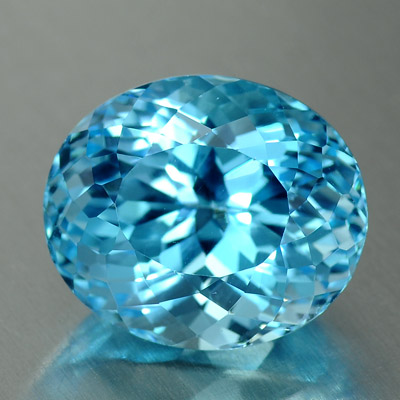 Swiss blue loose topaz gemstone