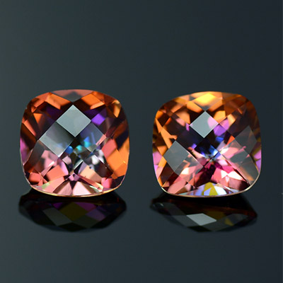 Natural Azotic Topaz Pair