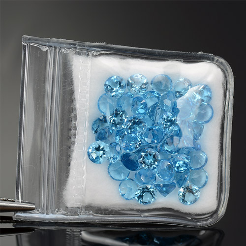 Swiss blue Natural Topaz Lot 4.00 mm