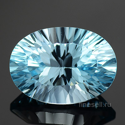 Loose natural sky blue topaz oval cut