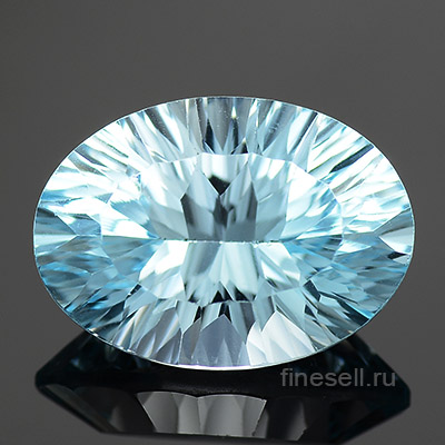 Loose natural sky blue topaz gemstone 7.04 Ct