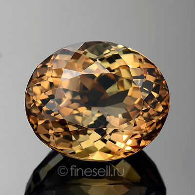Natural light brown topaz - 18.55 Ct