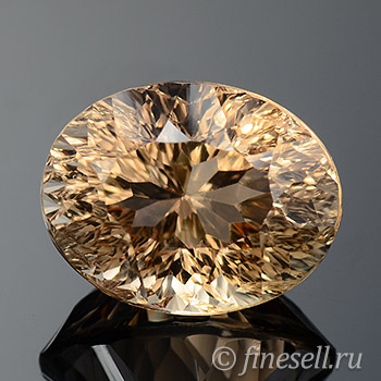 Natural cognac color topaz 9.67 Ct