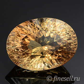 Natural light brown color topaz 12.90 Ct