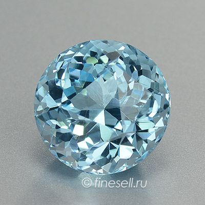 Natural Blue Topaz Russia Custom Round Cut loose gemstone
