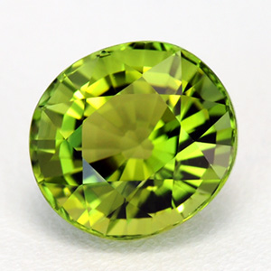 Top Quality Deep Saturated Natural Yellowish-green Tourmaline Oval Cut 2.61 Ct