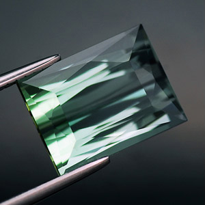 Certified Perfect Octagon Cut Light Grass Green Tourmaline 5.26 Ct