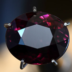 Natural Heated Deep Cherry Red Tourmaline Oval Faceted Gemstone 3.36 Ct