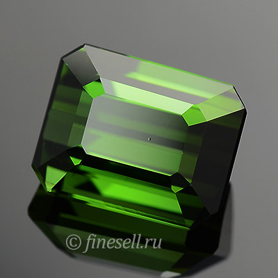 Leaf Green and Clean Natural Emerald Cut Tourmaline 3.11 ct