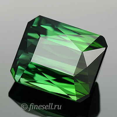 Natural Top Green Emerald Cut Tourmaline Big Size Clean Gemstone 6.37 Ct