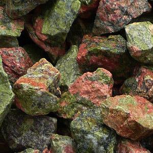 Камень унакит, сырье