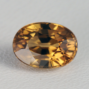 Natural imperial brown zircon oval cut 2.01 Ct