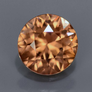Natural Round imperial Champagne zircon 1.28 Ct