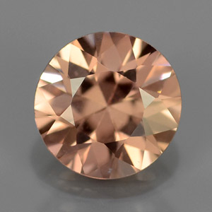 Natural Round, Brilliant-Cut imperial Champagne zircon untreated 1.33 Ct