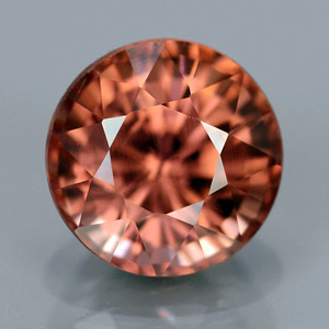 Natural imperial zircon round cut 2.25 Ct