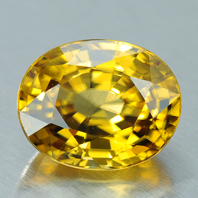 Natural yellow zircon oval cut clean gemstone 6.83 Ct