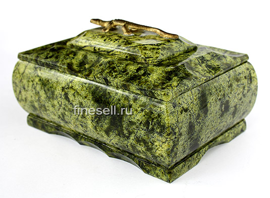 Змеевик камень шкатулка фото
